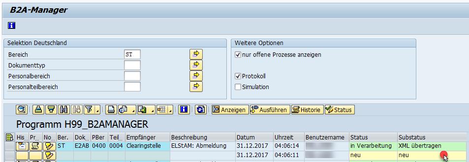 B2A-Manager: XML-Datei anzeigen