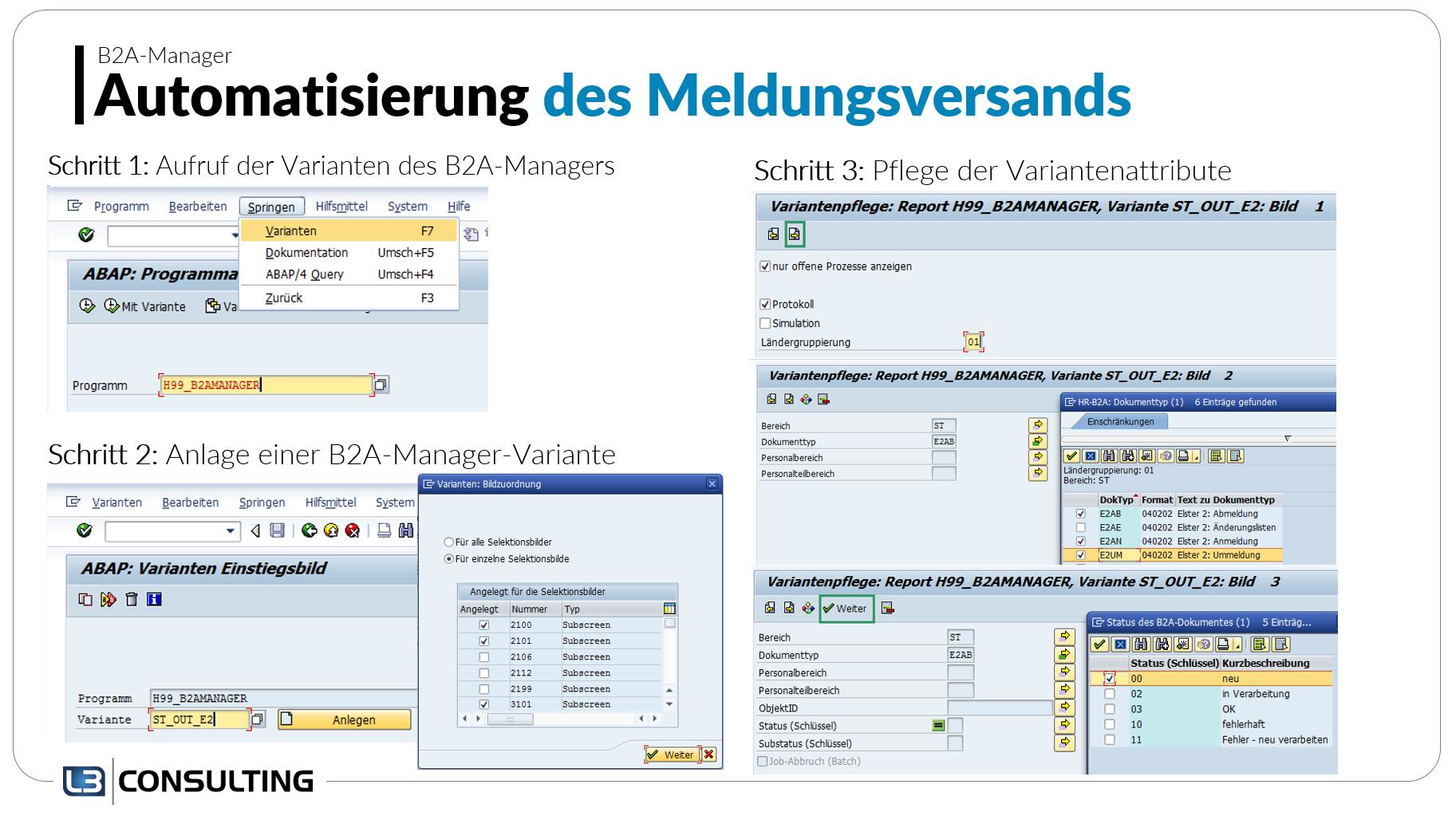 B2A-Manager: Automatisierung des Meldungsversands am Beispiel ELStAM