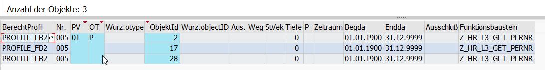 Auswertung eines Profils nur mit Funktionsbaustein