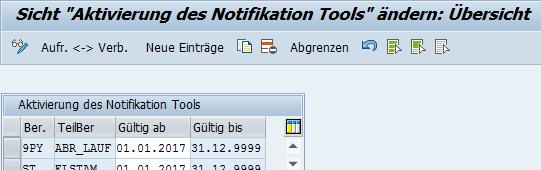 """Notification Tool: Aktivierung des kundeneigenes Bereichs """"9PY"""""""