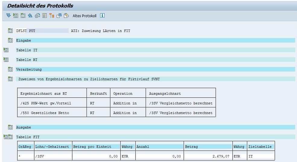 """§23c: Fiktivlauf1 """"SVNT"""" Lohnartenübergabe an Echtabrechnung (Details)"""