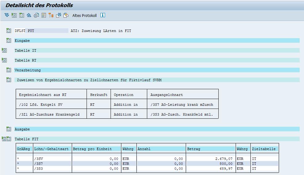 """§23c: Fiktivlauf 2 """"SVKM"""": Lohnartenübergabe an Echtabrechnung (Detail)"""