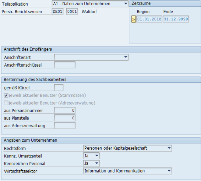 """A1-Verfahren: Teilappl. A1UD in Sicht """"Daten zum Personalbereich Berichtswesen"""""""