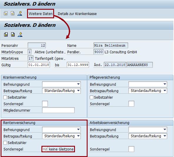 """Ausweitung der Gleitzone: IT0013 Weitere Daten Sonderregel """"keine Gleitzone"""""""