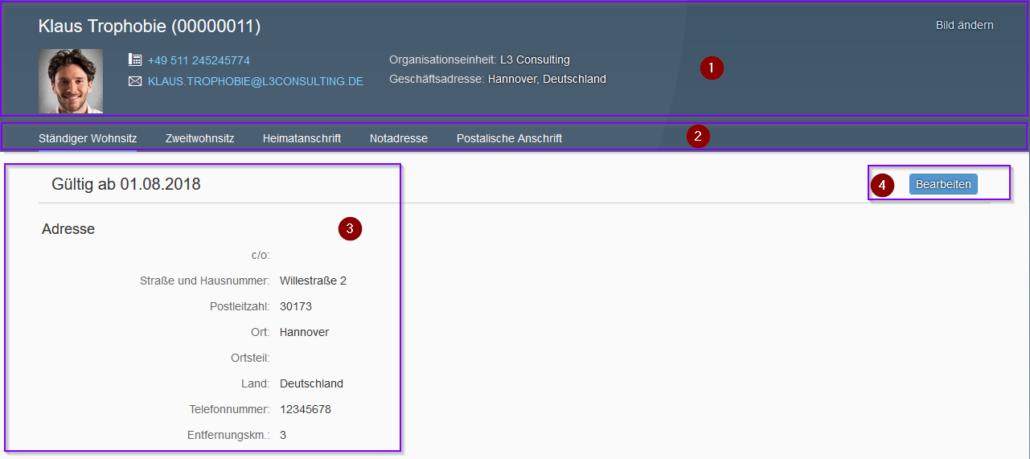 """SAP Fiori 2.0: Übersicht """"Meine Adressen"""""""
