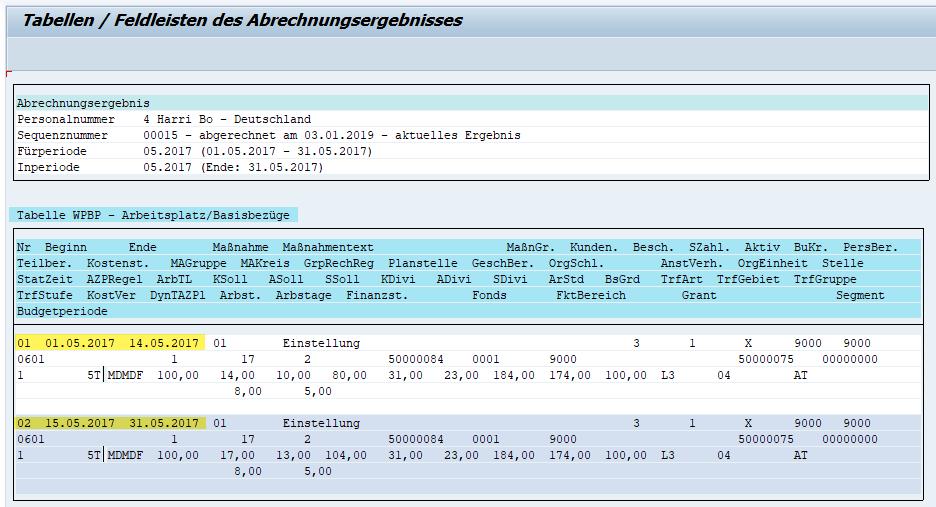 Tabelle WPBP mit (WPBP-)Splitkennzeichen im Abrechnungsergebnis