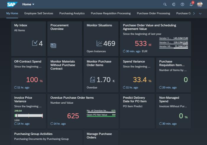 Quartz Dark, der Dark Mode in SAP Fiori 3