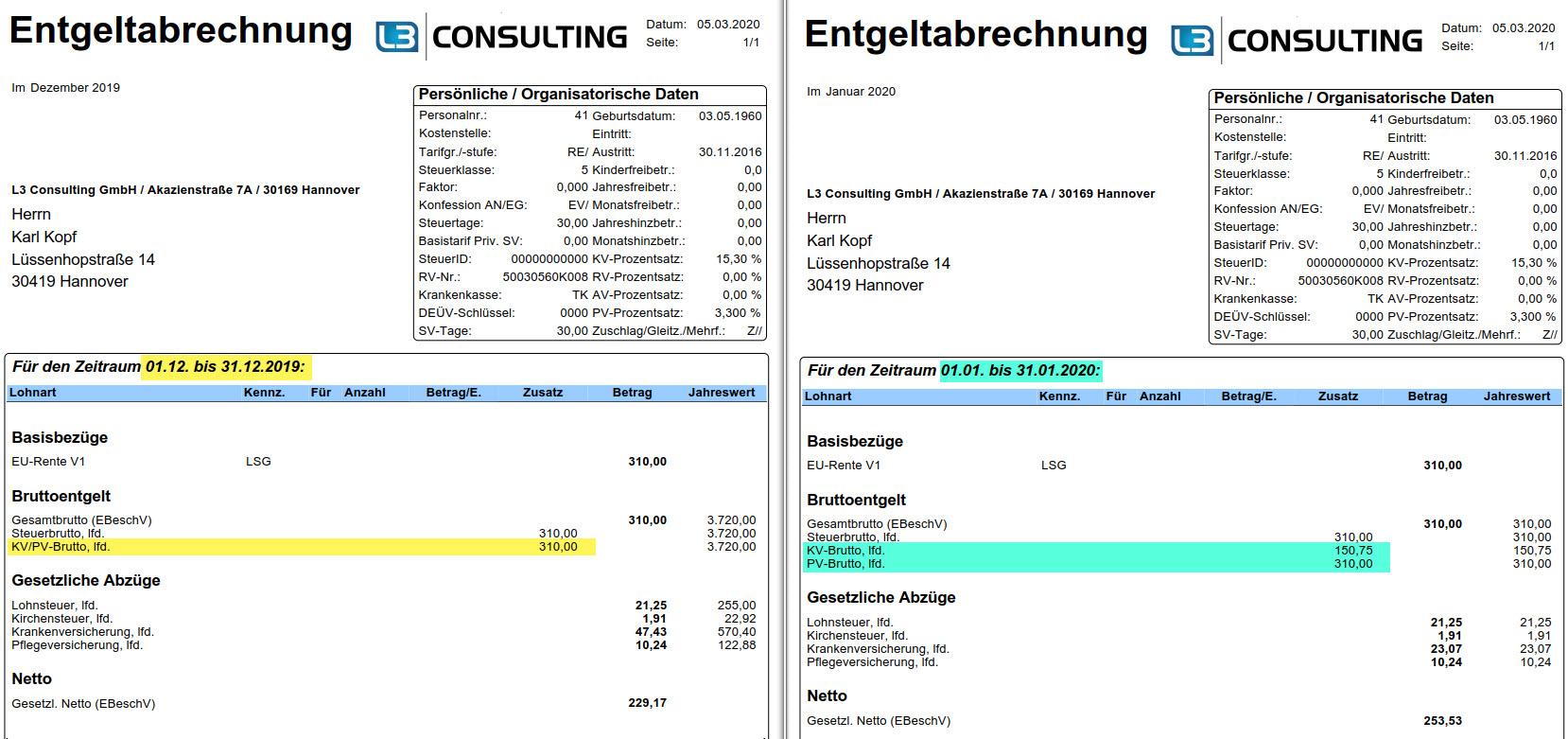 GKV-Betriebsrenten-Freibetrag für Einfachbezieher im SAP ...