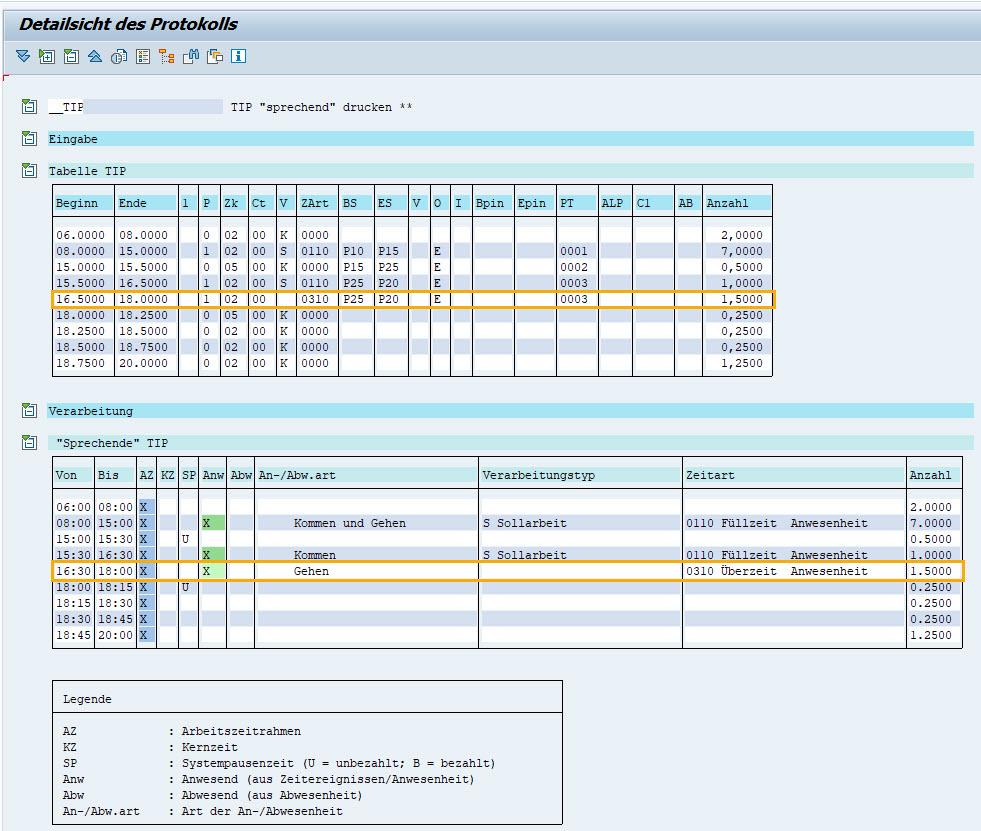 Höchstarbeitszeit: Sprechende Tabelle TIP in der Zeitwirtschaft im SAP HCM