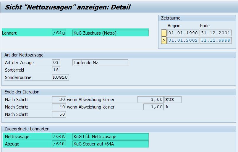 """Sonderroutine """"KUGZU"""" im Rahmen der Nettozusage im SAP HCM"""