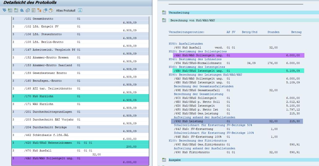 Nebeneinkommen / Hinzuverdienst aus Nebentätigkeit (/620) bei Kurzarbeit im SAP HCM