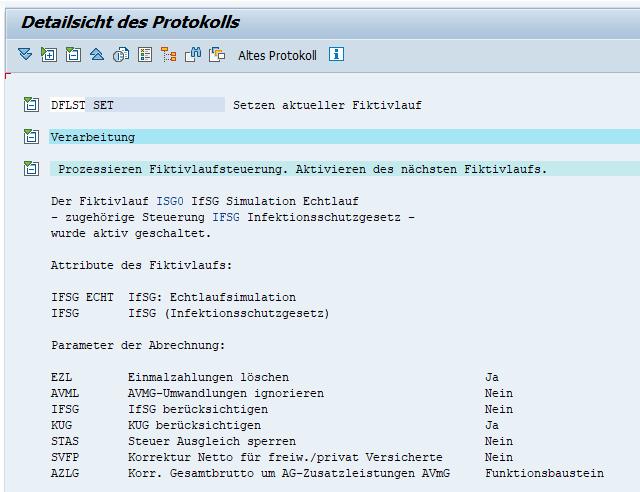 Aufruf/Setzen des Fiktivlaufs ISG0 bei Quarantäne im SAP HCM