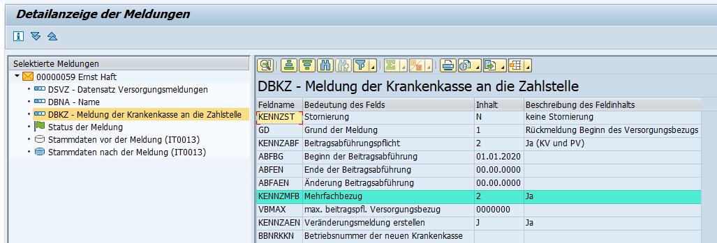 """Kennzeichen """"Mehrfachbezug"""" im Datenbaustein DBKZ des Zahlstellenverfahrens im SAP HCM"""
