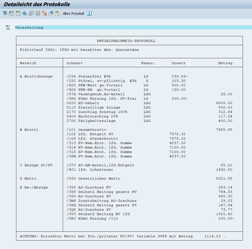 Das L3-Entgeltnachweis-Protokoll für Fiktivläufe der Entgeltabrechnung im SAP HCM