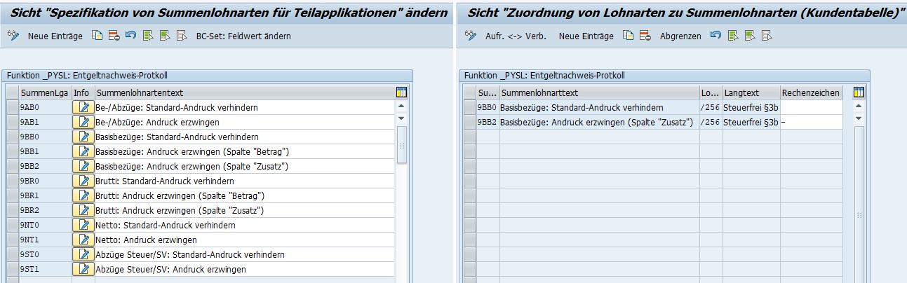 Anpassungsmöglichkeiten im L3-Entgeltnachweis-Protokoll für Fiktivläufe der Entgeltabrechnung im SAP HCM und Beispiel